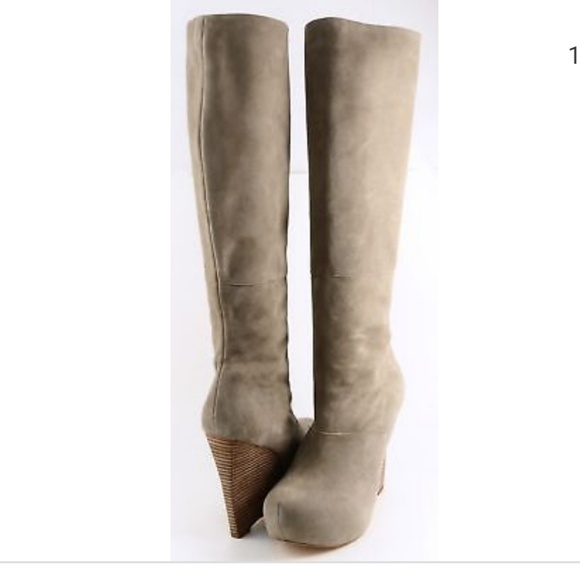 016ebceabcf3 L.A.M.B. Shoes - L.A.M.B. lamb puppy tan suede knee high boots